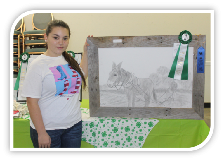 Farm and Home Exhibits Contest Caitlyn Noble, 4-H / FFA Reserved Best of Show.