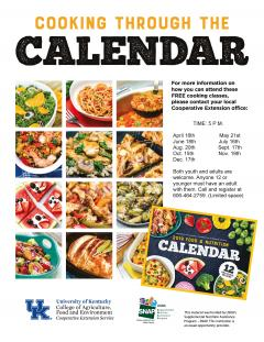 Cooking Through the Calendar Flyer.