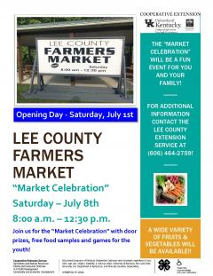 Farmers Market Flyer.
