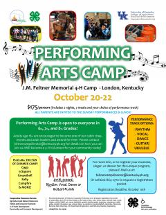 Performing Arts Camp Flyer.