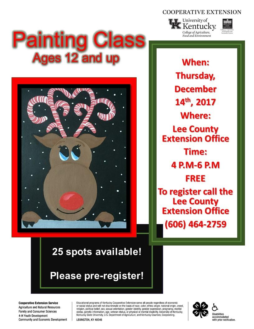 Adult Painting Class Flyer.