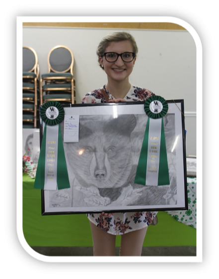 Farm and Home Exhibits Contest Caitlyn Judd, 4-H / FFA Best of Show.