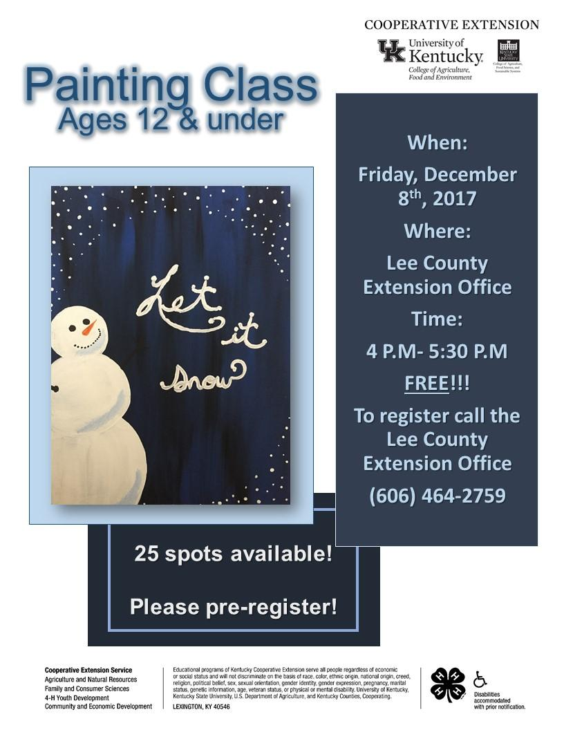 Youth Painting Class Flyer.