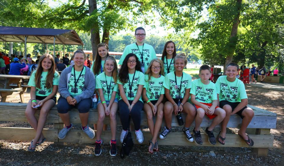 4-H'ers attended 4-H Camp with Breathitt, Owsley, Knott, Jackson and Johnson Counties.