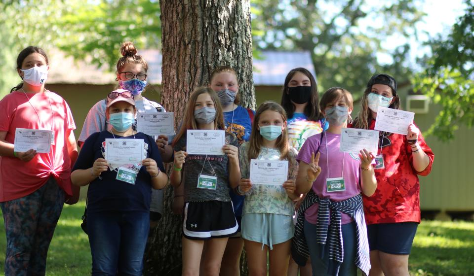Lee County's Female 4-H Campers.