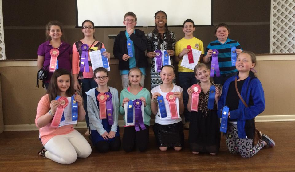 Lee County 4-H'ers participate in demonstrations and speeches.